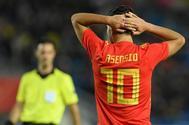 Marco Asensio, en un partido con la selección española.