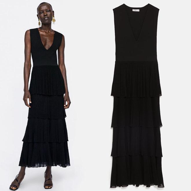 Vestido negro en zara