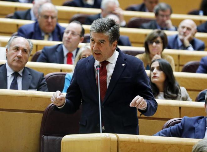 Ignacio Cosidó, portavoz del PP en el Senado, durante una sesión de...