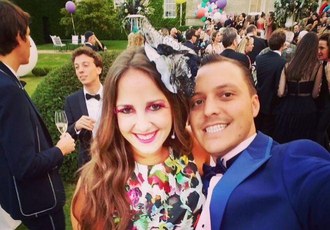 La princesa Thedora y Matthew Kumar, en una foto compartida en sus redes sociales.