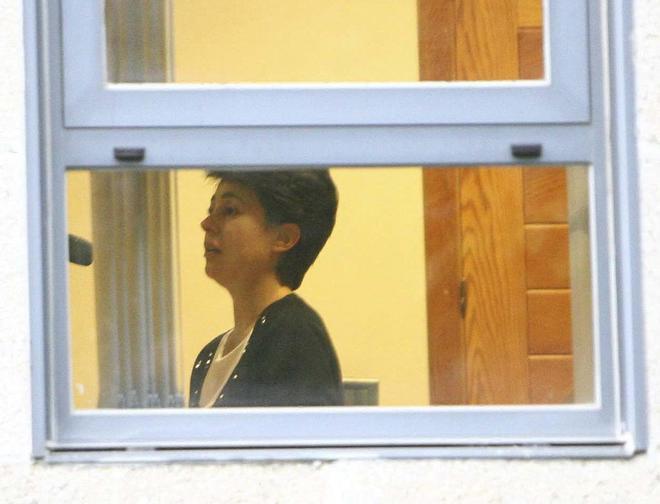 Rosario Porto, durante su declaración tras ser detenida en septiembre de 2013.