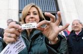 Una fiscal de la Audiencia Provincial de Valladolid, durante la...