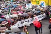Miles de extremeños mostraron su hartazgo el pasado domingo, en...