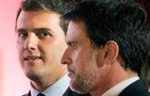 El presidente de Ciudadanos, Albert Rivera, y el candidato a la...