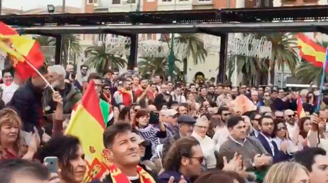 Imagen del mitin que Vox celebró en Málaga el pasado sábado.