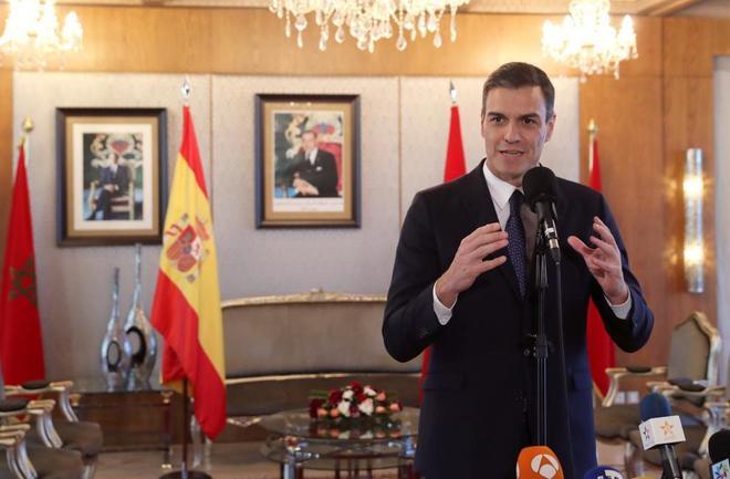 El presidente del Gobierno, Pedro Sánchez, durante una de sus...