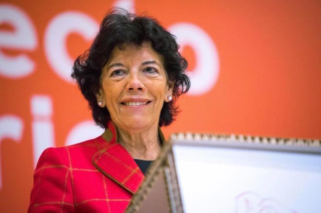 La ministra de Educación y Formación Profesional, y portavoz del Gobierno de España, Isabel Celaá,