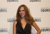 La actriz Aina Clotet, antes de asistir a un concierto de Roisin...