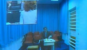 Jaume Matas declara por videoconferencia desde la cárcel.