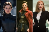 Jennifer Lawrence, Benedict Cumberbatch y Jessica Chastain, en varios...