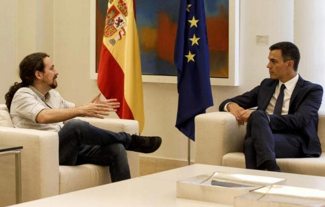 Pedro Sánchez junto a Pablo Iglesias, el pasado verano en La Moncloa.
