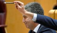 El portavoz del PP en el Senado, Ignacio Cosidó, ayer, en la Sesión...
