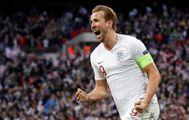 Harry Kane celebra un gol de Inglaterra ante Croacia.