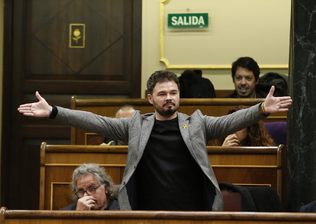 El portavoz de ERC, Gabriel Rufián, ha sido expulsado hoy del pleno...