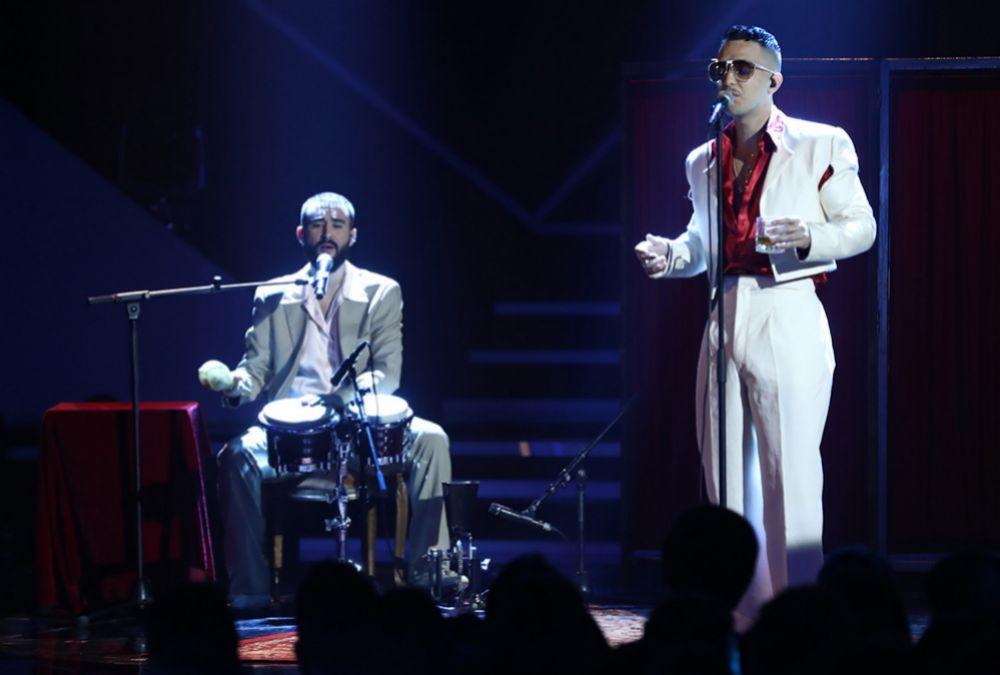 C. Tangana cantando Un veneno en OT 2018