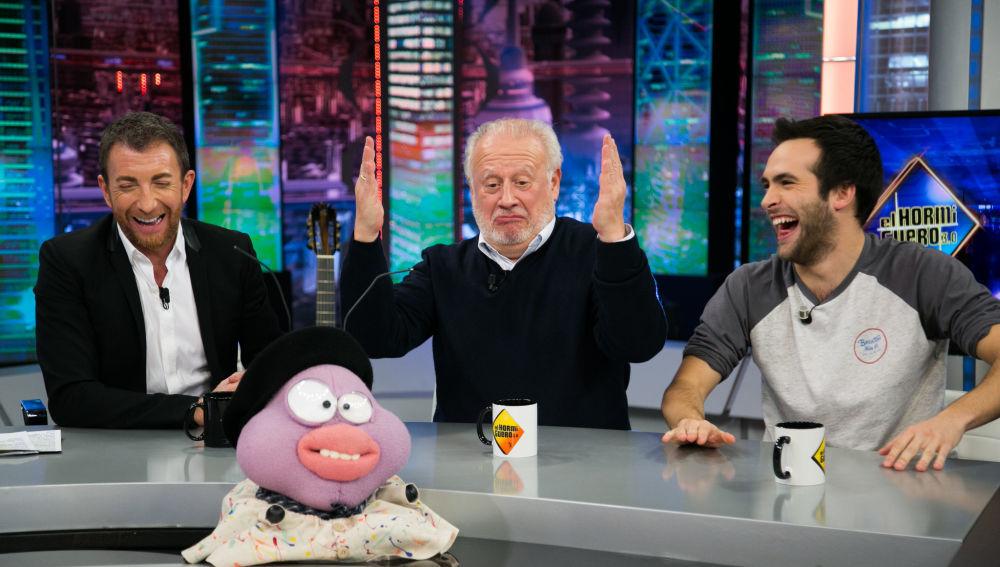 Pablo Motos, Juan Echanove y Ricardo Gómez en el plató de El...