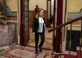 Ana Pastor, a su llegada al Congreso de los Diputados, esta mañana.