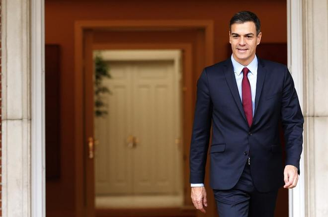 El presidente del Gobierno, Pedro Sánchez,en el Palacio de La Moncloa...
