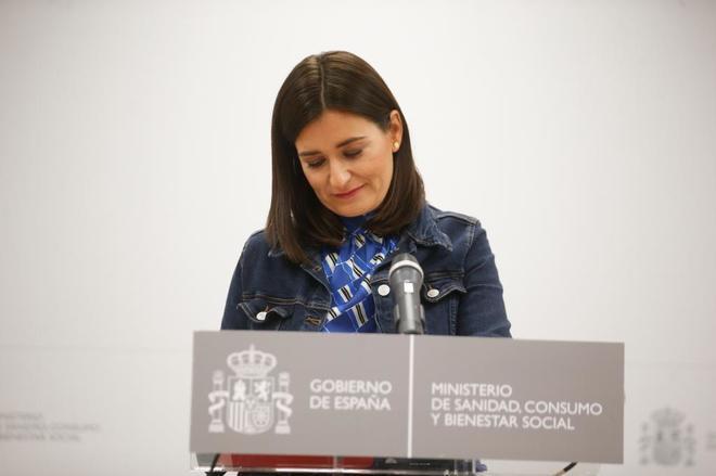 Carmen Montón el pasado septiembre, cuando presentó su dimisión como ministra de Sanidad.