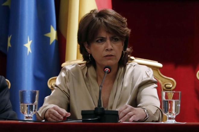 La ministra de Justicia, Dolores Delgado, en la inauguración del X Congrseo de Academias Jurídicas y Sociales de Iberoamérica.
