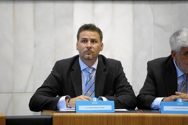 El vicepresidente tercero de la Diputación de Alicante (PP), Alejandro Morant.
