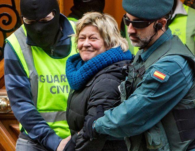 La abogada de los presos de ETA Arantza Zulueta, en el momento de su...