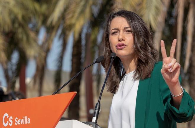 Inés Arrimadas, líder de Ciudadanos en Cataluña, en un acto de su...