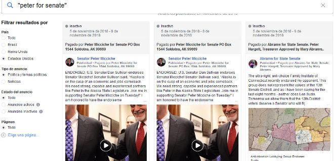 Un candidato norteamericano en la biblioteca de Facebook para las...