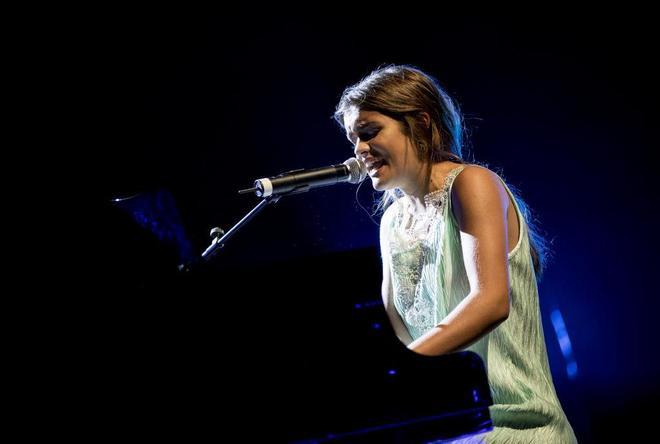 Amaia Romero durante una actuación en el Teatro Real de Madrid