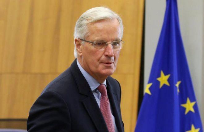 Michel Barnier,  jefe de negociaciones de la Comisión Europea con el...