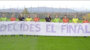 Las árbitras españolas animan a las víctimas de violencia de género