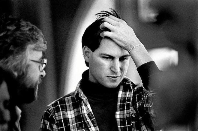 Un joven Steve Jobs, en Palo Alto (California), en 1986.