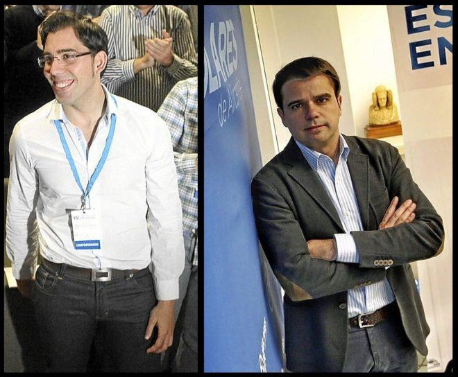 Luisma Pizana y Rafael Candela, jóvenes promesas del PP alicantino.