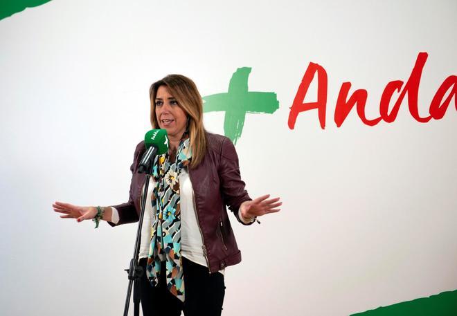 Susana Díaz en la localidad de Úbeda (Jaén).