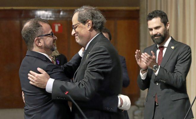 Quim Torra felicita al nuevo 'conseller' de Acción Exterior de la...