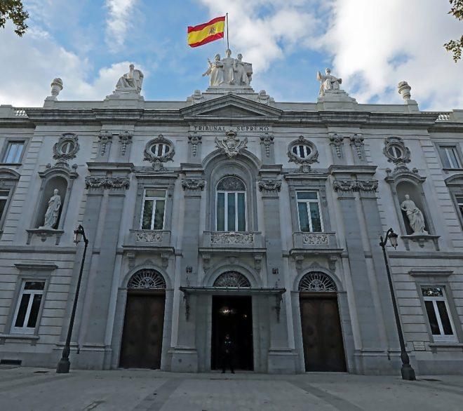 Fachada del edificio del Tribunal Supremo en el centro de Madrid