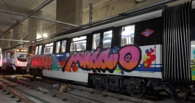 Estado de los trenes tras el ataque en la estación de las Rosas.