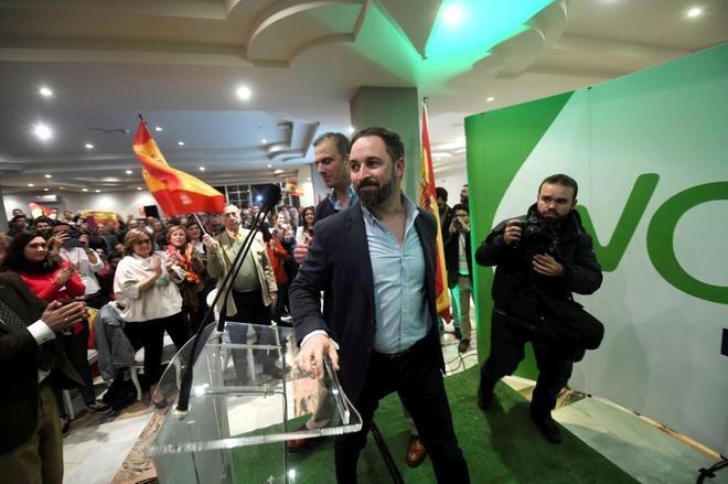 Santiago Abascal, en un mitin de Vox en Córdoba.