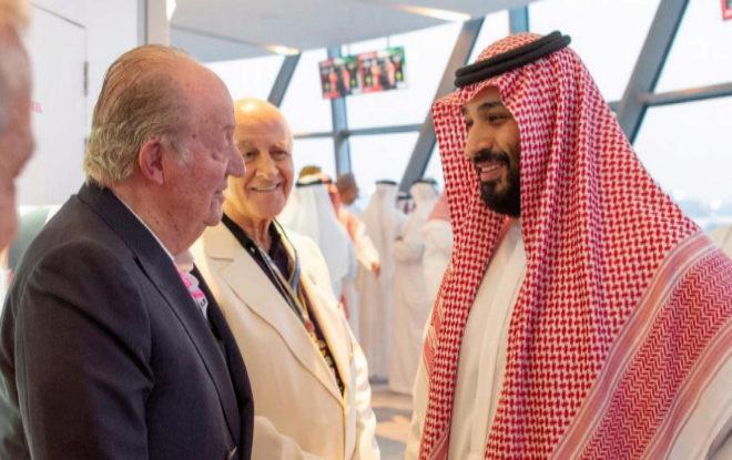 """Zarzuela, sobre el saludo del Rey Emérito al heredero saudí: """"Fue protocolario y sin valor institucional"""""""