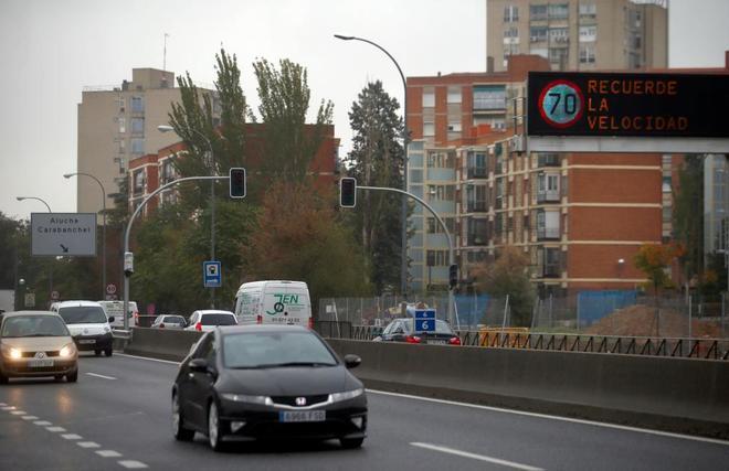 Imagen de la autovía de Extremadura en el término municipal de Madrid.
