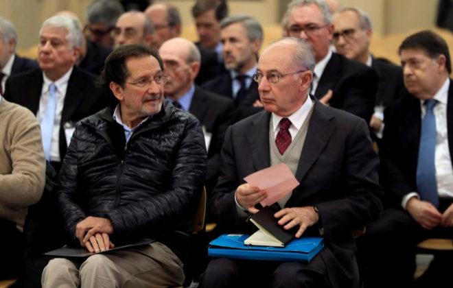 El ex presidente de Bankia y ex vicepresidente del Gobierno, Rodrigo Rato, ayer en el juicio.
