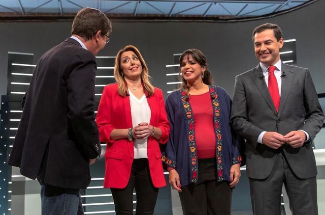 Los cuatro candidatos a ganas las elecciones de Andalucía 2018, Juan...