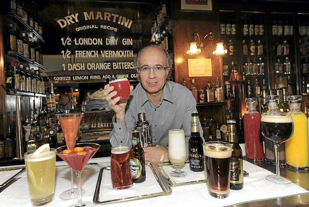 Javier de las Muelas en el Dry Martini en una imagen de archivo.