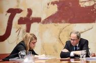 El presidente de la Generalitat, Quim Torra, y su vicepresidenta, Elsa Artadi