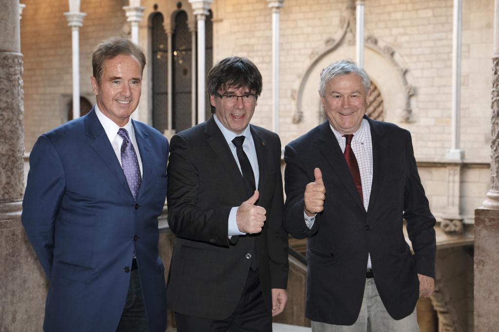 Reunion Reunión de 2017 del entonces presidente Carles Puigdemont con los congresistas norteamericanos Rohrabacher y Higgins