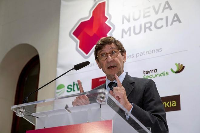 El presidente de Bankia, Jose Ignacio Goirigolzarri, durante una conferencia.