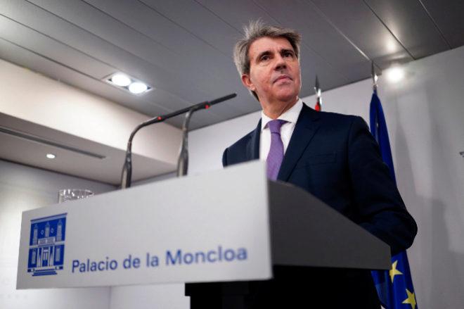 Ángel Garrido en una rueda de prensa