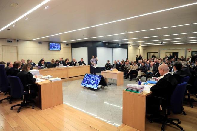 Detalle de la sala en la que se celebra el juicio por el 'caso...