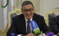 Gafur Rakhimov, durante un acto reciente de la AIBA.
