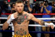 McGregor, durante una pelea en Las Vegas en agosto de 2017.
